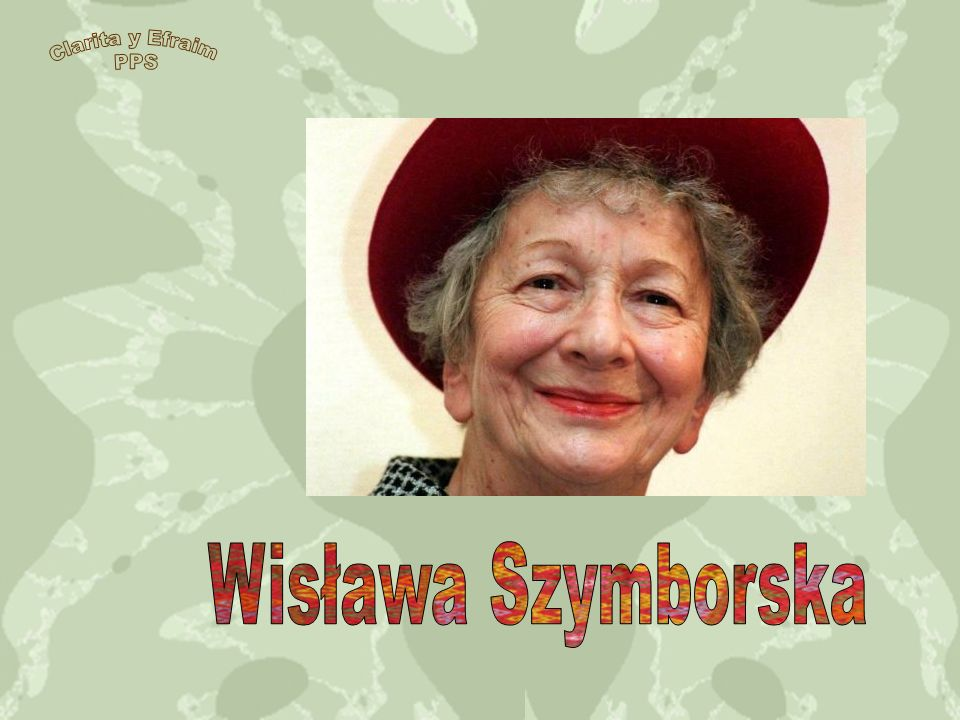 Wisława Szymborska leyendo en el Book World 2010, Praga, República Checa.