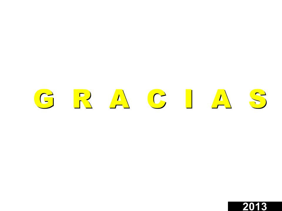 G R A C I A S 2013