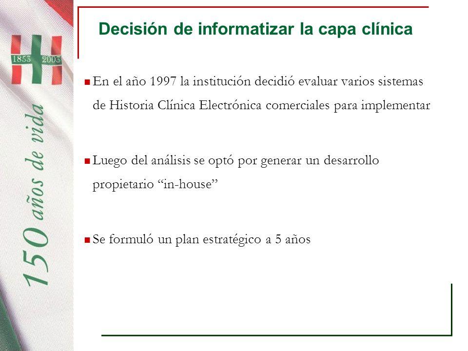 Condiciones necesarias Identificación unívoca de los pacientes Interoperabilidad operativa de los sistemas Interoperabilidad semántica Alta disponiblidad (24 x 7) Soporte diferencial a nuevos actores (24 x 7) Manejo del cambio en la implementación