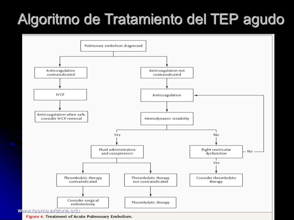 Algoritmo de Tratamiento del TEP agudo www.reeme.arizona.edu