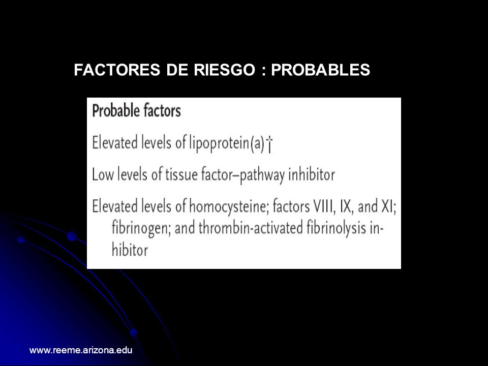 Aproximacion Diagnostica ante un probable TEP agudo www.reeme.arizona.edu