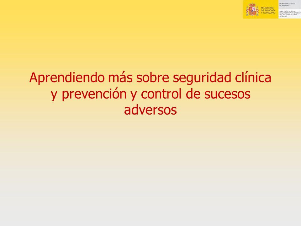 Aprendiendo más sobre seguridad clínica y prevención y control de sucesos adversos