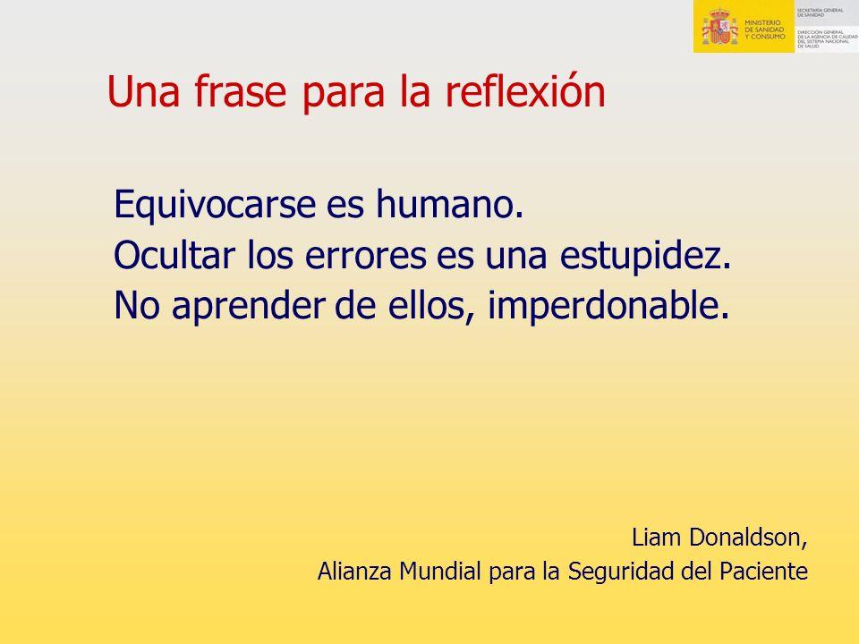 Una frase para la reflexión Equivocarse es humano.
