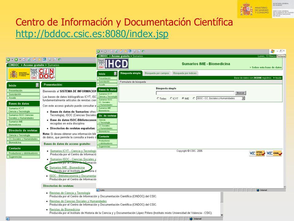 Centro de Información y Documentación Científica http://bddoc.csic.es:8080/index.jsp http://bddoc.csic.es:8080/index.jsp