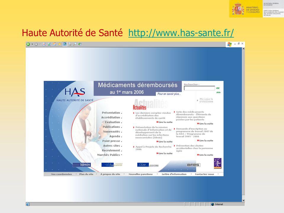 Haute Autorité de Santé http://www.has-sante.fr/http://www.has-sante.fr/