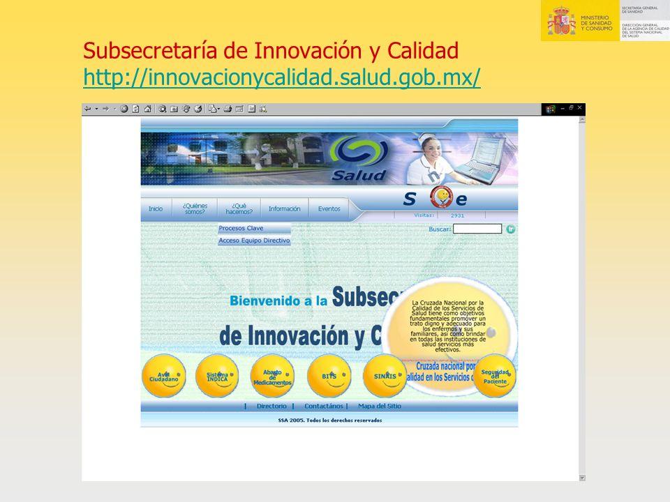 Subsecretaría de Innovación y Calidad http://innovacionycalidad.salud.gob.mx/ http://innovacionycalidad.salud.gob.mx/