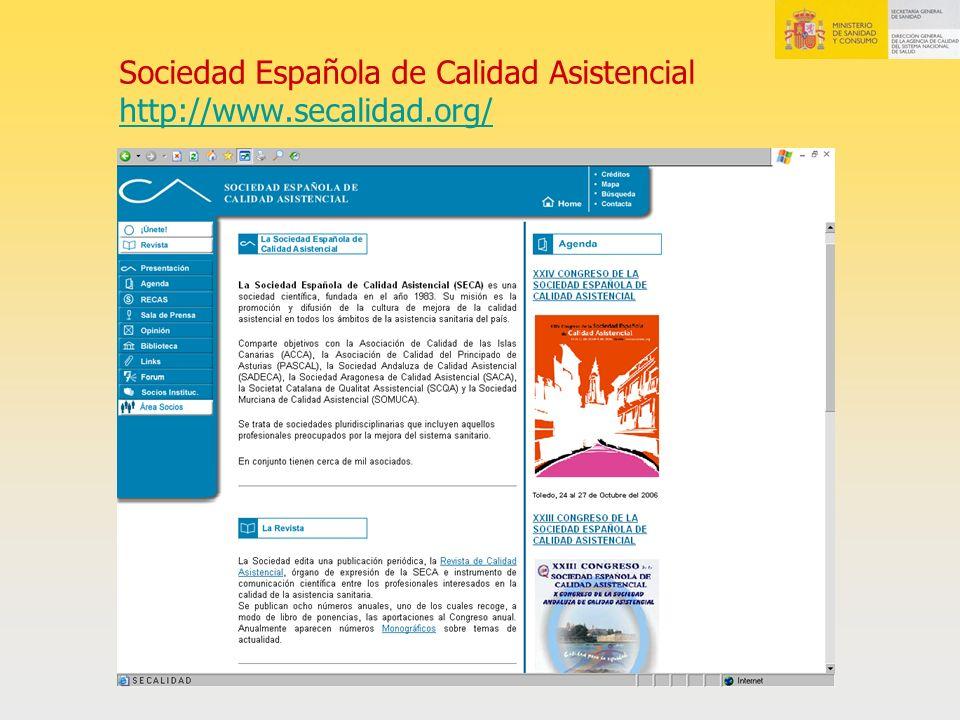 Sociedad Española de Calidad Asistencial http://www.secalidad.org/ http://www.secalidad.org/