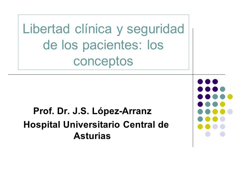Libertad clínica y seguridad de los pacientes: los conceptos Prof. Dr. J.S. López-Arranz Hospital Universitario Central de Asturias