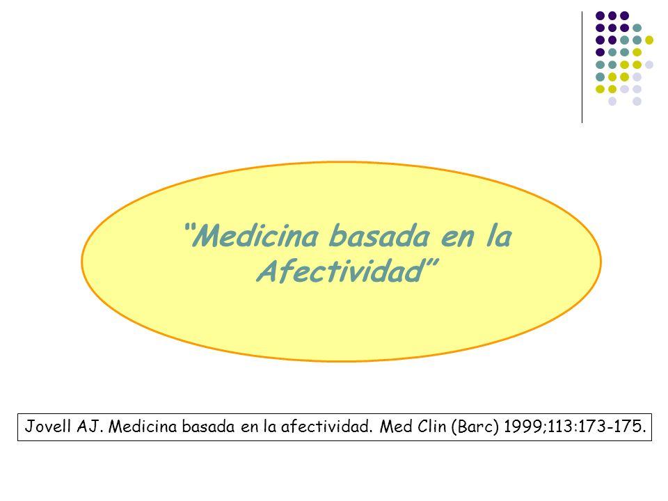 Medicina basada en la Afectividad Jovell AJ. Medicina basada en la afectividad. Med Clin (Barc) 1999;113:173-175.