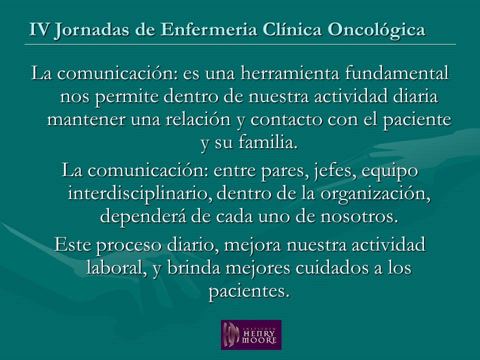 La comunicación: es una herramienta fundamental nos permite dentro de nuestra actividad diaria mantener una relación y contacto con el paciente y su f