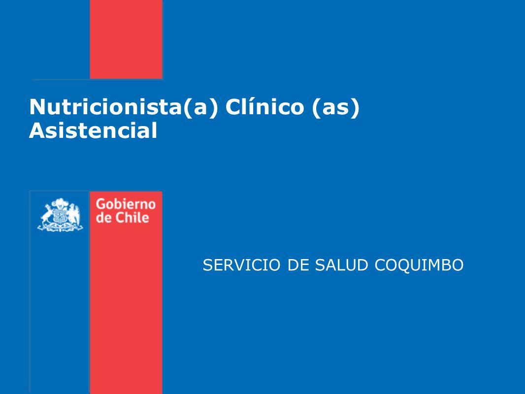 Nutricionista(a) Clínico (as) Asistencial SERVICIO DE SALUD COQUIMBO