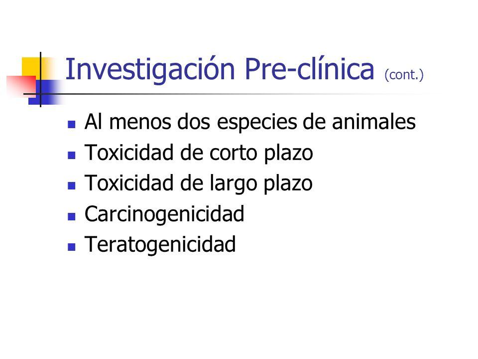Regulaciones Nacionales Food & Drug Administration (1937) Legislación en Europa (1960s) Latinoamérica: Mexico (1986) Brasil (1988) Argentina (1997) Chile (2001) Perú (2006)
