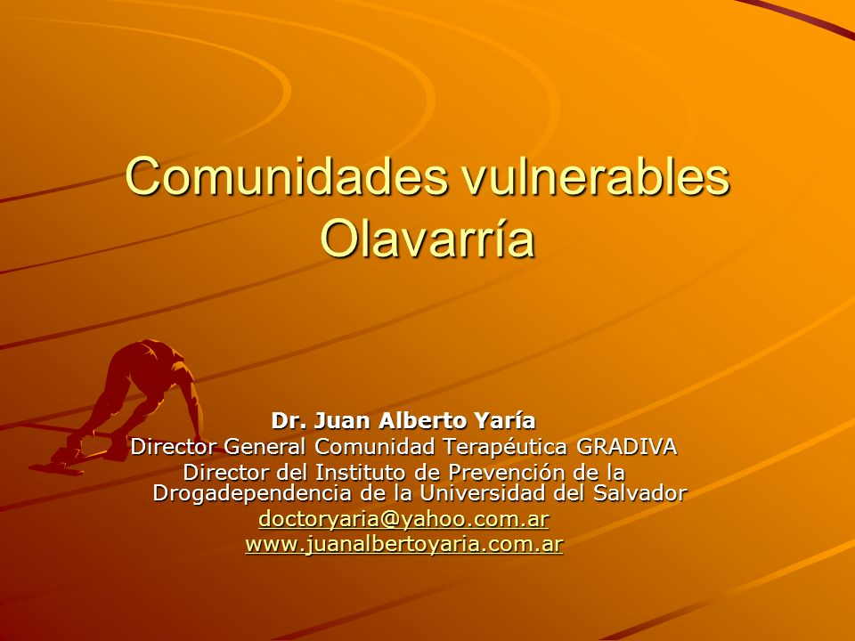 Comunidades vulnerables Olavarría Dr.