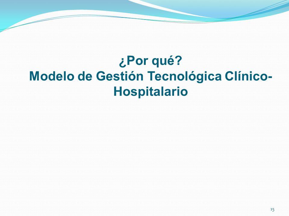 ¿Por qué? Modelo de Gestión Tecnológica Clínico- Hospitalario 15