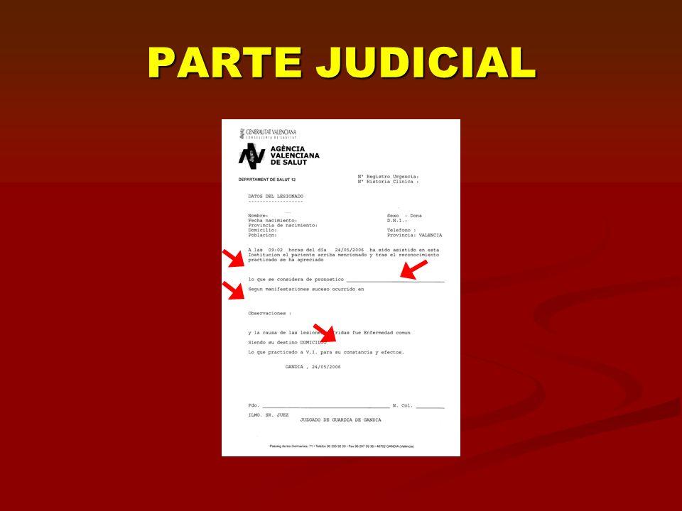 PARTE JUDICIAL