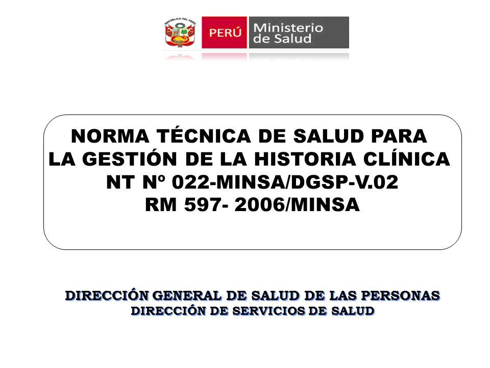 DIRECCIÓN GENERAL DE SALUD DE LAS PERSONAS DIRECCIÓN DE SERVICIOS DE SALUD DIRECCIÓN GENERAL DE SALUD DE LAS PERSONAS DIRECCIÓN DE SERVICIOS DE SALUD