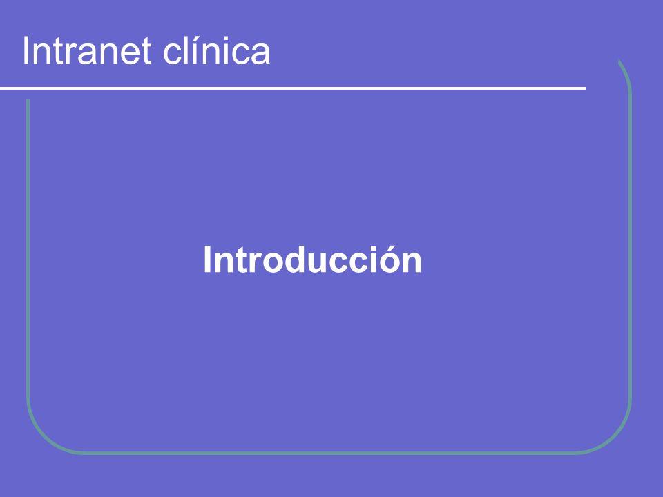 Intranet clínica Usuario Datos paciente Historial Esquema básico intranet