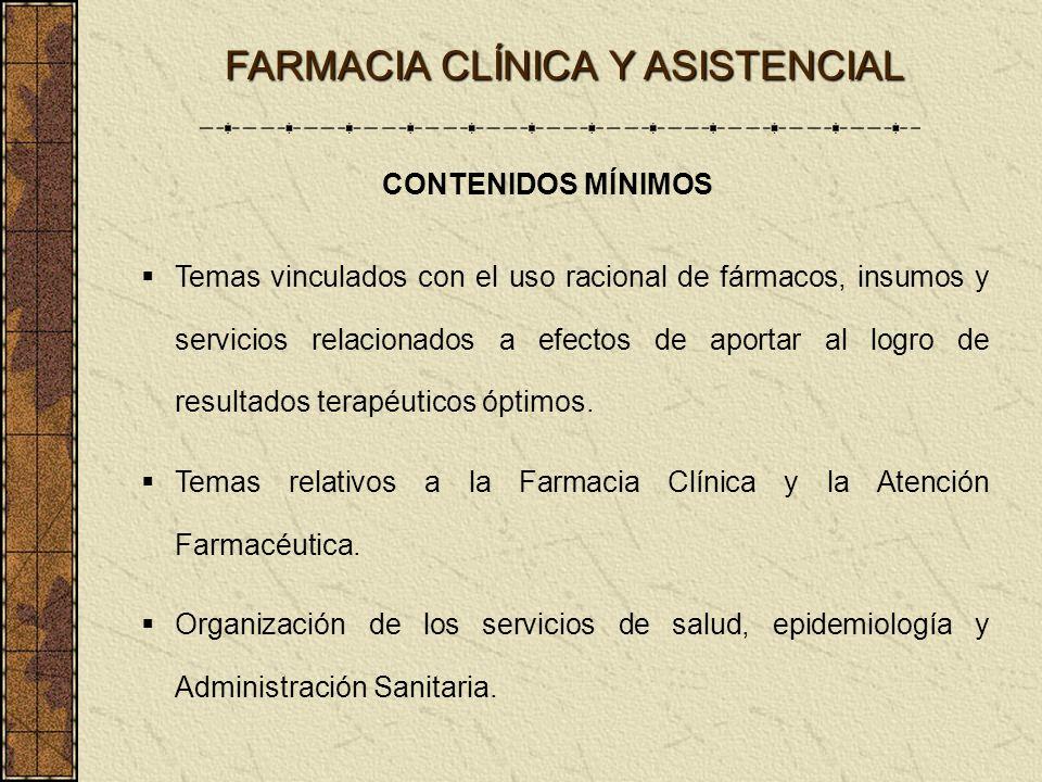 Temas vinculados con el uso racional de fármacos, insumos y servicios relacionados a efectos de aportar al logro de resultados terapéuticos óptimos. T
