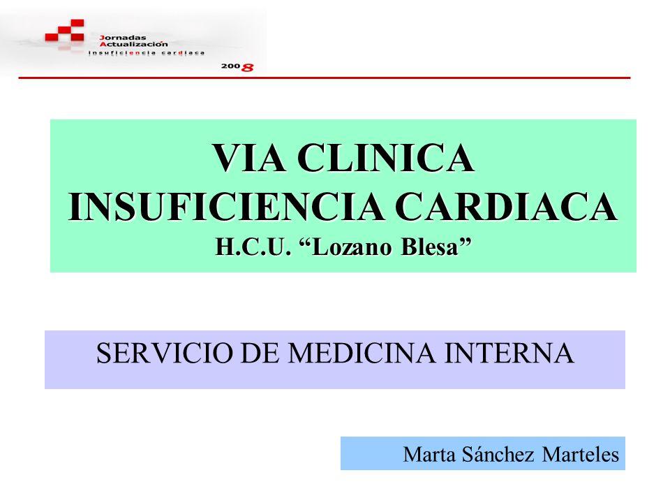 OTROS DOCUMENTOS Información del Servicio y Médico asignado Tratamiento de la Insuficiencia Cardiaca Orientaciones al paciente y familiares sobre la Insuficiencia cardiaca Listado de comprobación al alta (Check list)