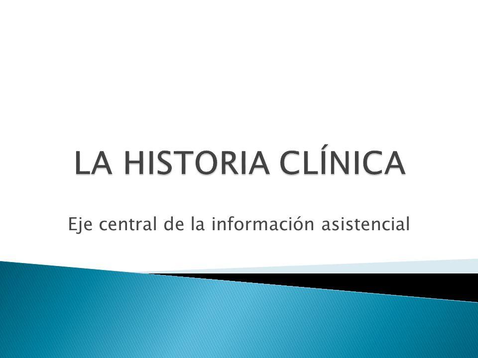 Eje central de la información asistencial