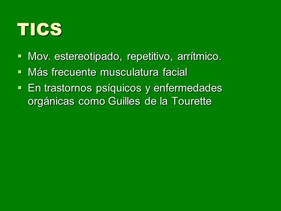 Aproximación diagnóstica Causas de temblor postural: Causas de temblor postural: Temblor fisiológico/psicógeno Temblor fisiológico/psicógeno Temblor fisiológico exagerado Temblor fisiológico exagerado Hipertiroidismo Hipertiroidismo Tóxicos (alcohol,cocaina, anfetaminas) Tóxicos (alcohol,cocaina, anfetaminas) Fármacos (betabloqueantes,primidona, BZD) Fármacos (betabloqueantes,primidona, BZD) Temblor esencial Temblor esencial ¿Esclerosis múltiple.