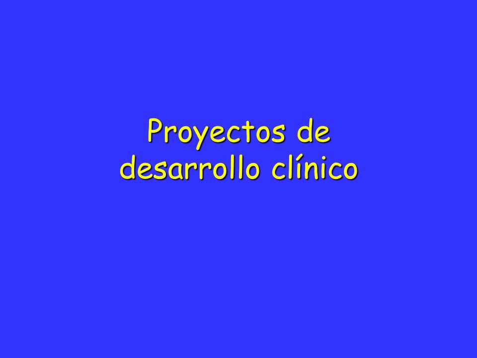 Proyectos de desarrollo clínico