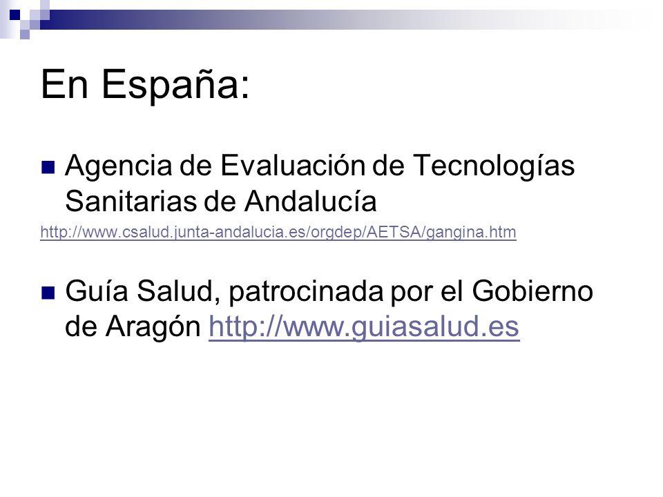En España: Sociedad Española de Cardiología http://www.secardiologia.es/ http://www.secardiologia.es/ Fisterra http://www.fisterra.comhttp://www.fisterra.com R.
