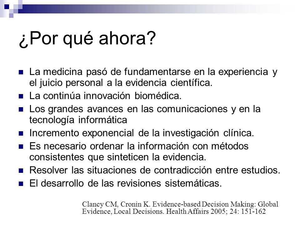 Utilidad de las guías de práctica clínica (GPC) Es una de herramienta que permite organizar la mejor evidencia científica disponible (lo que está probado) para ser utilizada en la toma de decisiones clínicas.