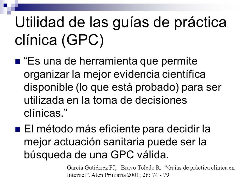 ¿En base a qué se diseñan la GPC.No se corresponden a un único tipo de documento.