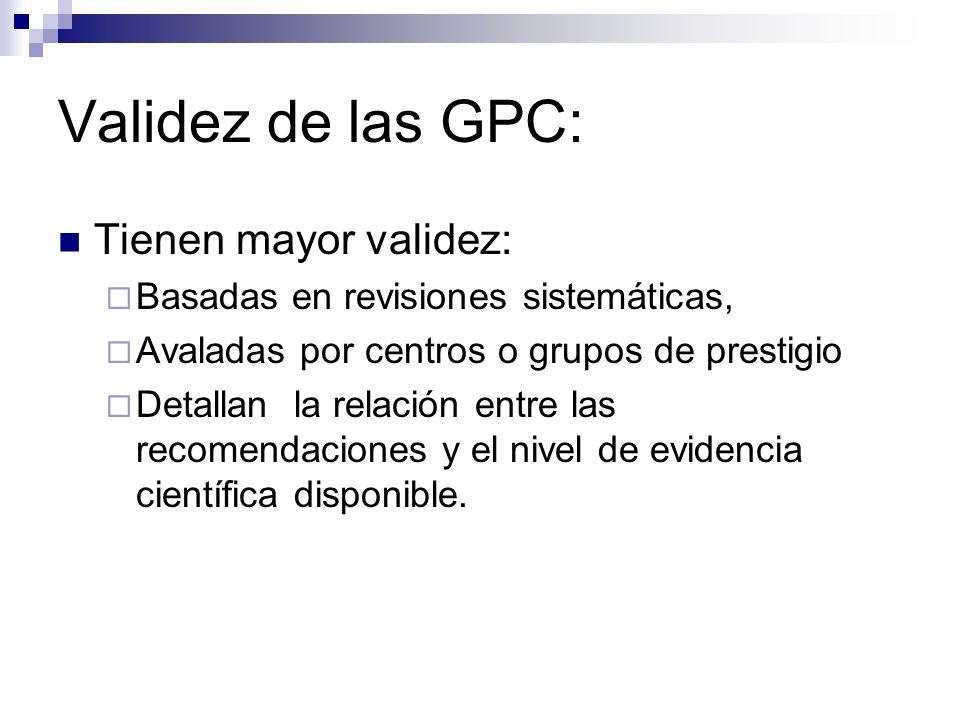 GPC basadas en la evidencia.a) Identificación y composición del panel de expertos que las elabora.