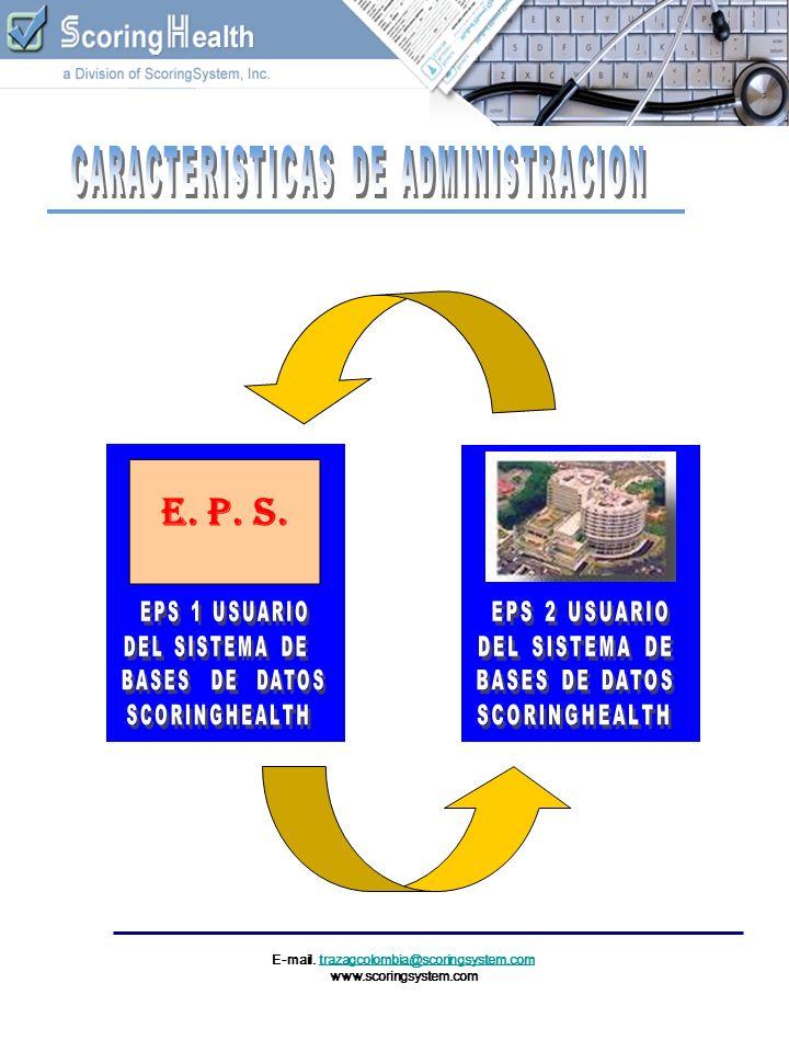 E-mail. trazagcolombia@scoringsystem.comtrazagcolombia@scoringsystem.com www.scoringsystem.com E. P. S.