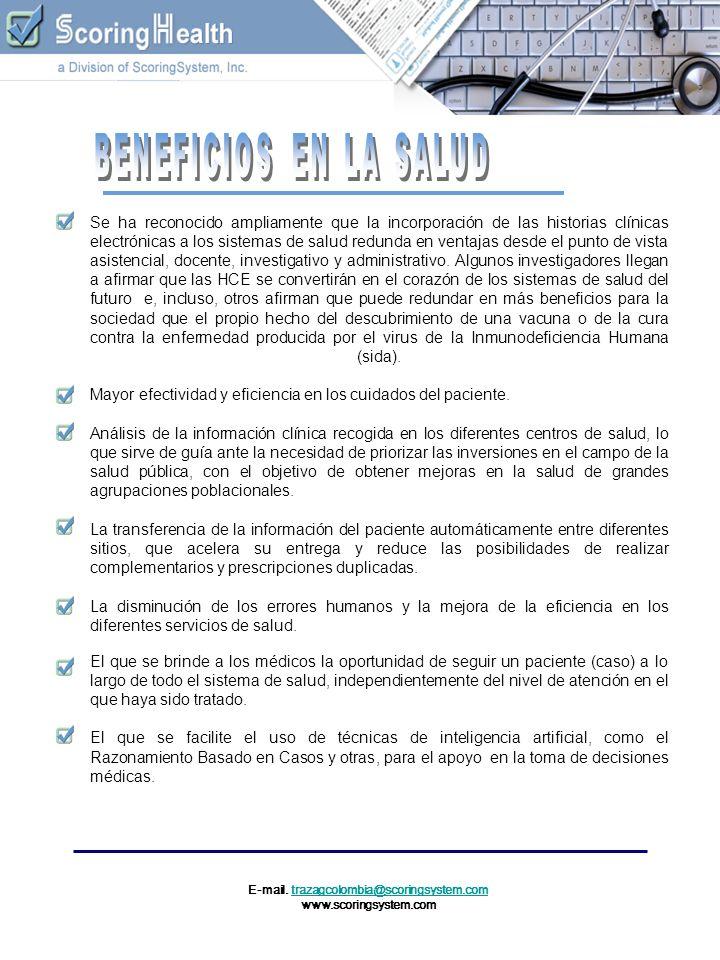 E-mail. trazagcolombia@scoringsystem.comtrazagcolombia@scoringsystem.com www.scoringsystem.com Se ha reconocido ampliamente que la incorporación de la