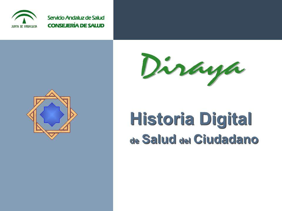 Proyecto DIRAYA: Objetivo Integrar toda la información sanitaria de cada ciudadano HISTORIA ÚNICA