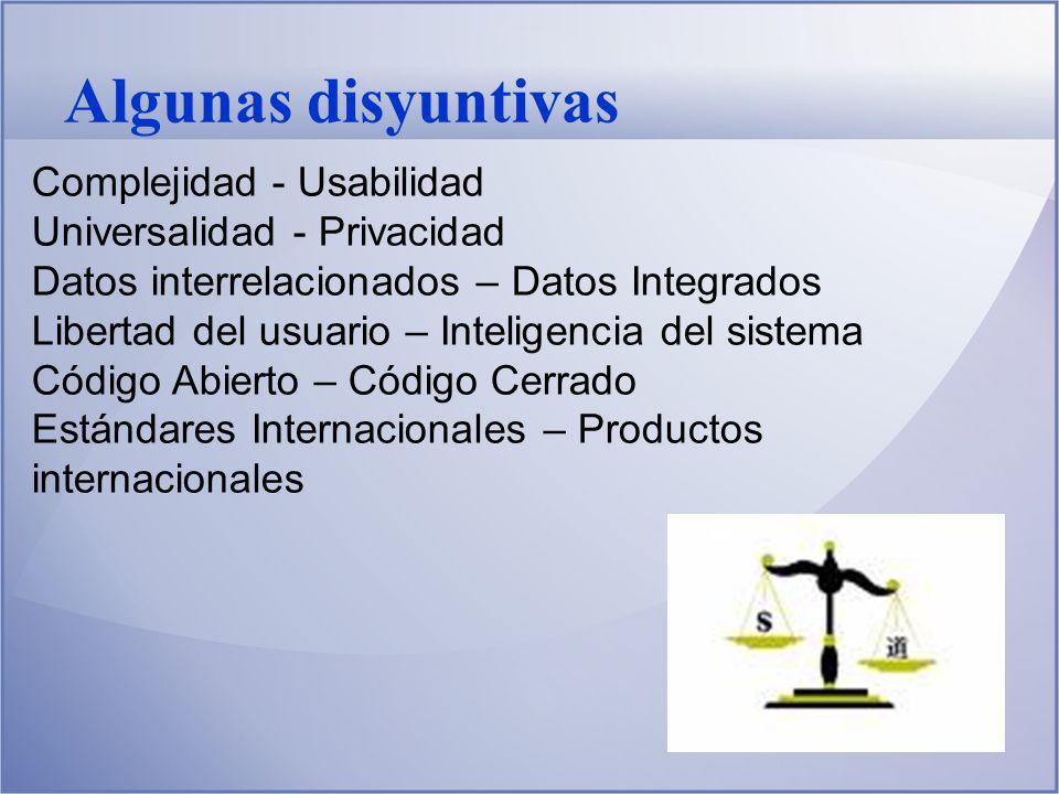 Niveles de Usuario Paciente Médico Administrador Empresario Tomador de decisiones: Centro de Salud Hospital Provincia País Organizaciones internacionales