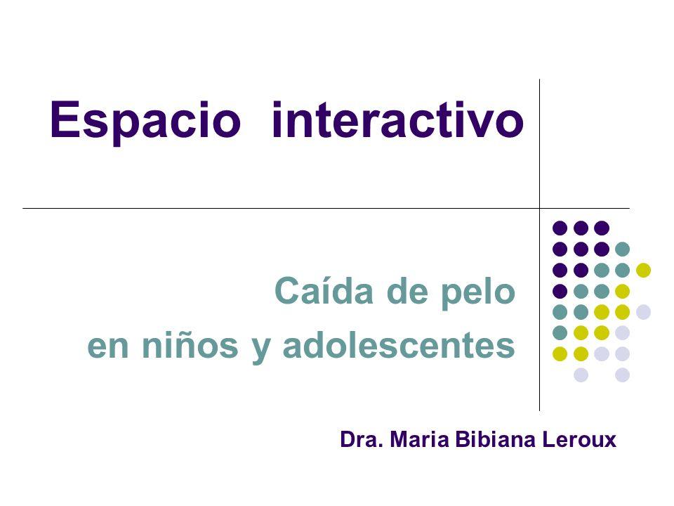 Dra. Maria Bibiana Leroux Caída de pelo en niños y adolescentes Espacio interactivo