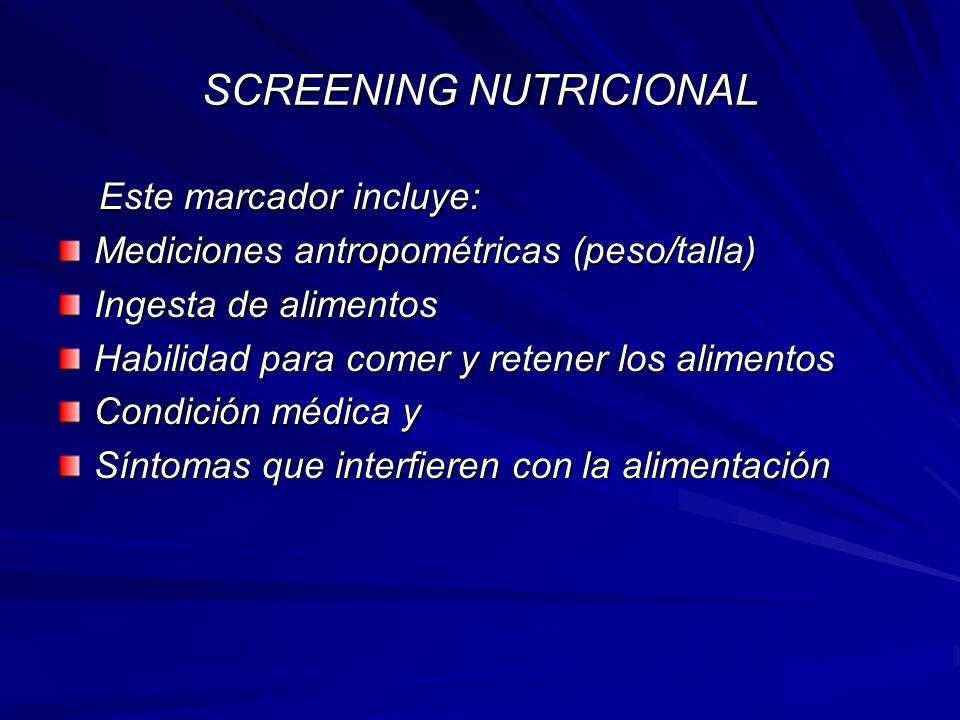 Evaluación del riesgo nutricional al ingreso Evaluación del riesgo nutricional al ingresoNombre:........................................................HC:....................Habitación:.....................