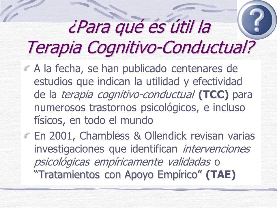 ¿Para qué es útil la Terapia Cognitivo-Conductual.