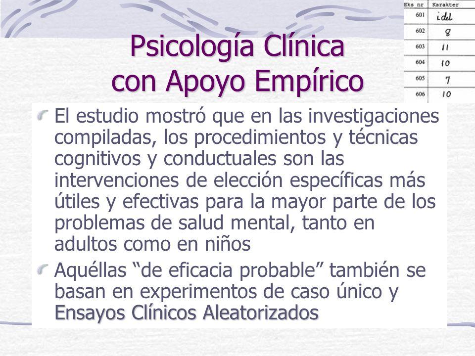 TERAPIAS PSICOLÓGICAS EMPÍRICAMENTE VALIDADAS PARA TRASTORNOS COMUNES EN ADULTOS Qué funciona para quién: TERAPIAS PSICOLÓGICAS EMPÍRICAMENTE VALIDADAS PARA TRASTORNOS COMUNES EN ADULTOS Qué funciona para quién: Revisión sistemática de Roth & Fonagy de la Psicoterapia para el Departamento de Salud del Gobierno Británico (1996)