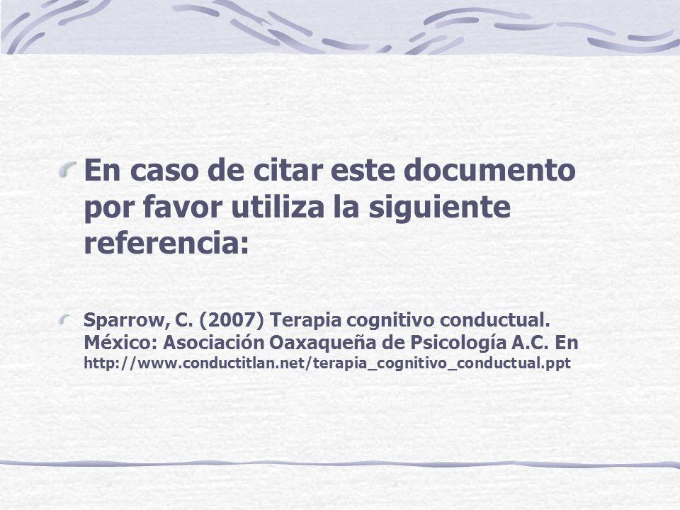 En caso de citar este documento por favor utiliza la siguiente referencia: Sparrow, C.