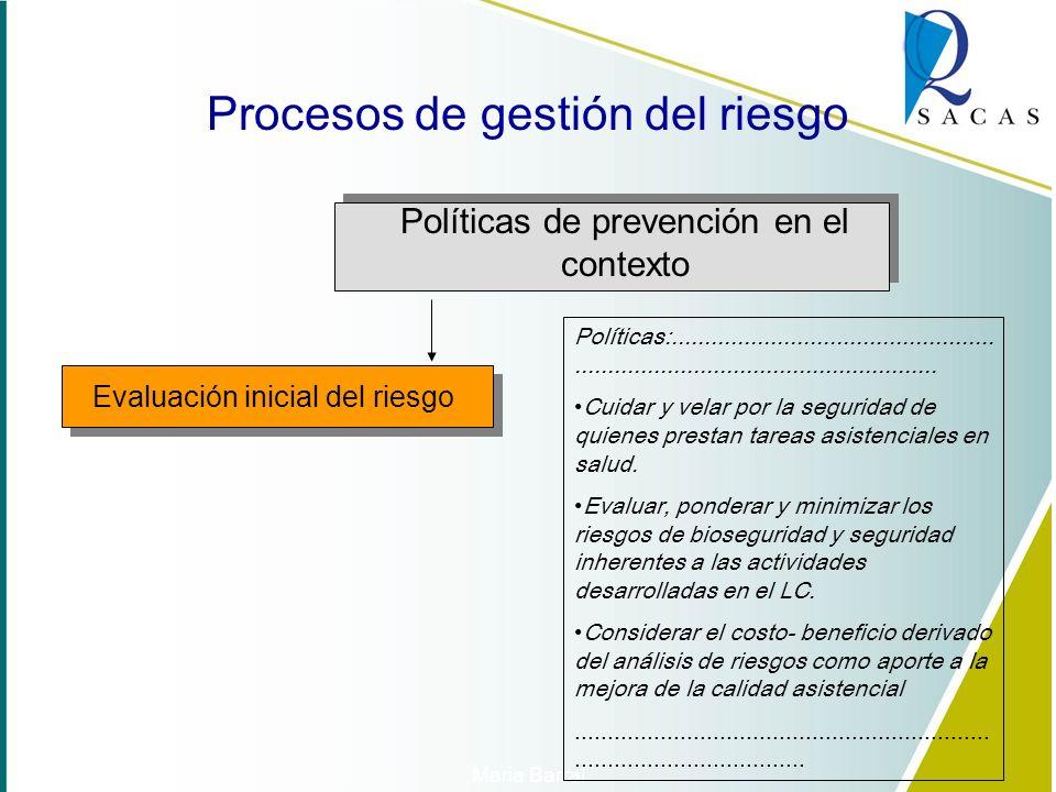 Revision inicial Políticas de prevención en el contexto Objetivos Organización del SGR Medios y responsabilidades Evaluación inicial del riesgo Planif