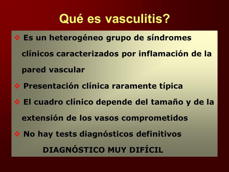 Vasculitis en la práctica ambulatoria ¿qué es vasculitis? ¿porqué se produce? ¿hay diferentes tipos? ¿cuales son los cuadros clínicos? ¿tienen tratami