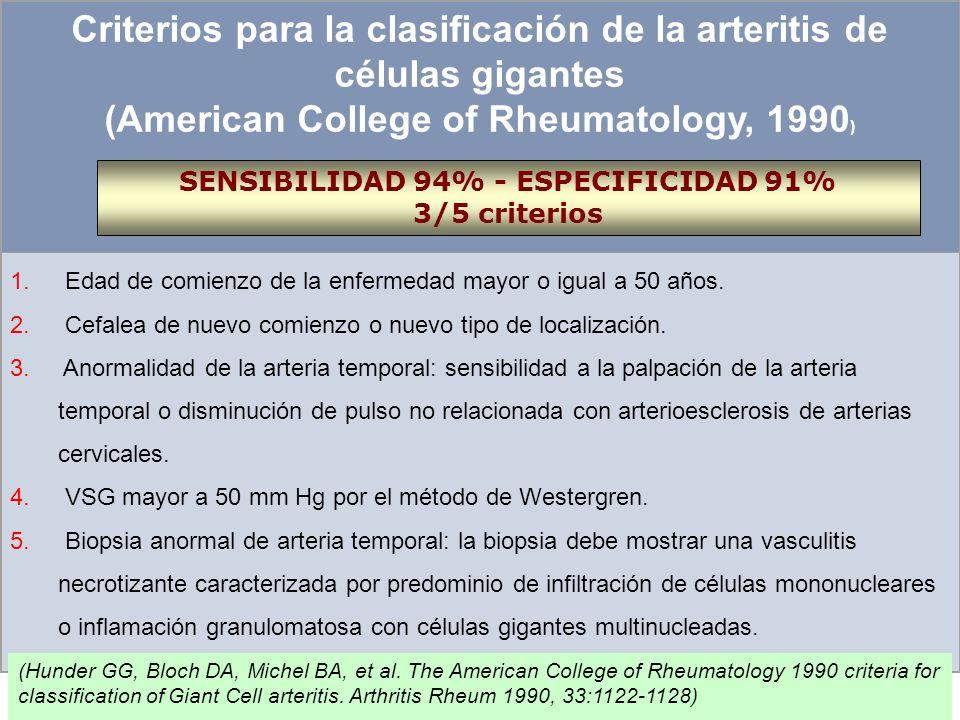 Arteritis de células gigantes y Polimialgia reumática Espectros opuestos de la misma enfermedad? PMR, es una forma frusta de A de CG? Importantes cefa