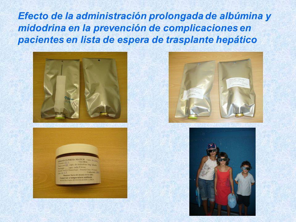 Efecto de la administración prolongada de albúmina y midodrina en la prevención de complicaciones en pacientes en lista de espera de trasplante hepáti