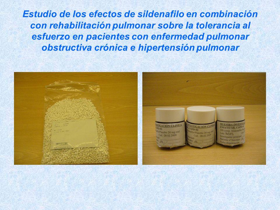 Estudio de los efectos de sildenafilo en combinación con rehabilitación pulmonar sobre la tolerancia al esfuerzo en pacientes con enfermedad pulmonar