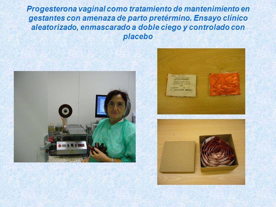 Progesterona vaginal como tratamiento de mantenimiento en gestantes con amenaza de parto pretérmino. Ensayo clínico aleatorizado, enmascarado a doble