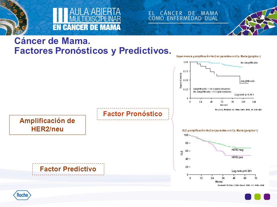 Amplificación de HER2/neu Factor Pronóstico Factor Predictivo Cáncer de Mama. Factores Pronósticos y Predictivos.