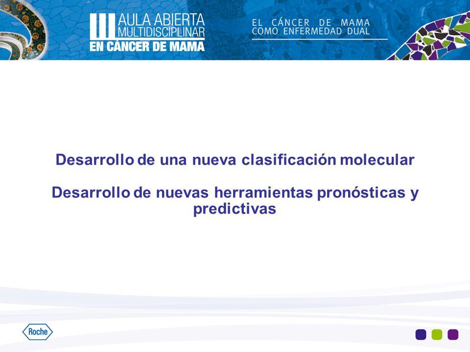 Desarrollo de una nueva clasificación molecular Desarrollo de nuevas herramientas pronósticas y predictivas