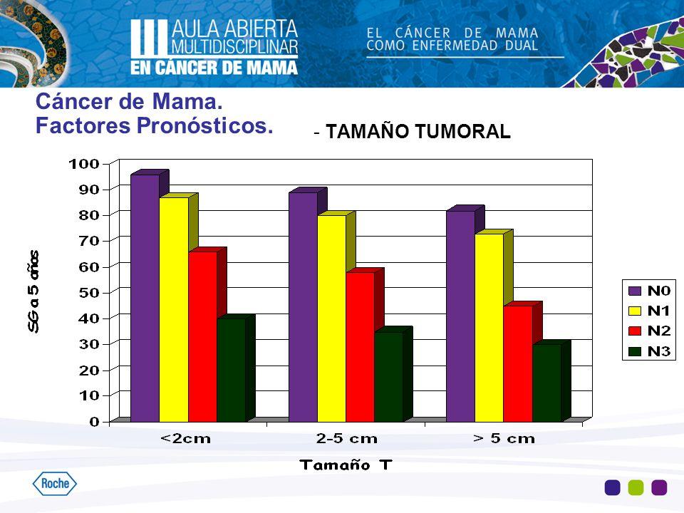 Cáncer de Mama. Factores Pronósticos. - TAMAÑO TUMORAL