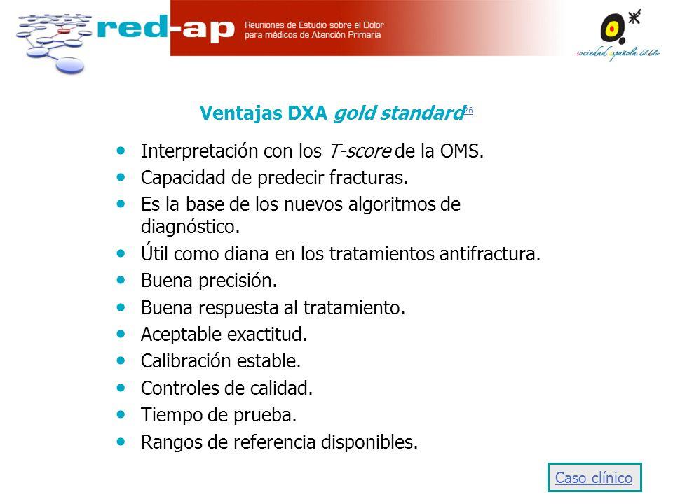 Ventajas DXA gold standard 26 26 Interpretación con los T-score de la OMS.