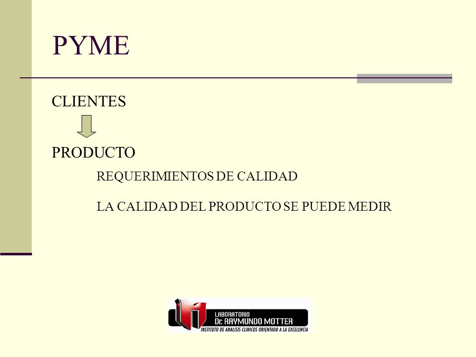 PYME PRODUCTO REQUERIMIENTOS DE CALIDAD LA CALIDAD DEL PRODUCTO SE PUEDE MEDIR CLIENTES